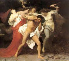 O remorso de Orestes ,William-Adolphe Bouguereau (1825-1905).Erínias,  Tisífone (Castigo), Megera (Rancor)…   Arte e literatura, William adolphe  bouguereau