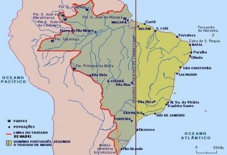 TRATADO DE MADRI | Suporte Geográfico