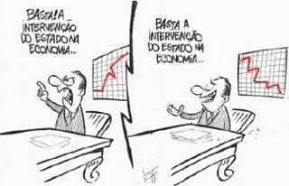 Intervenção do Estado no Domínio Econômico e no Domínio Social: Charge  sobre a Interveção do Estado